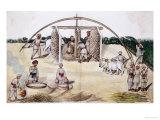Sugar Cane Pressing, Kutch School, circa 1840-50 Giclee Print