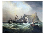 Neptune, Towing the Victory Into Gibraltar Harbour After the Battle of Trafalgar Giclee Print by Clarkson Stanfield