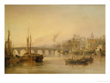 A View of Newcastle from the River Tyne Poster by Thomas Miles Richardson