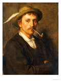 Country Farmer with Pipe Gicl&#233;e-Druck von Franz Von Defregger