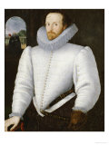Portrait of a Gentleman Traditionally Identified as Sir Walter Raleigh Giclee Print by Robert Peake