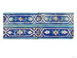 Four Timurid Cuerda Seca Pottery Tiles, 15th Century Prints