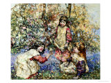 Gathering Primroses, 1919 Premium Giclee Print by Edward Atkinson Hornel