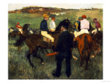 Racehorses (Leaving the Weighing), circa 1874-78 Giclee Print by Edgar Degas