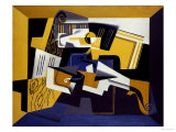 A Violin and Glass, 1918 Premium Giclee Print by Juan Gris