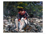 Girl in the Brook, 1913 Giclee Print by Lovis Corinth