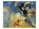 The Black Pegasus Giclee Print by Odilon Redon