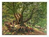 Robin Hood and His Merry Men in Sherwood Forest, 1859 Giclée-Druck von Edmund Warren George
