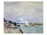 The Seine at Grenelle, Wet Weather, 1878 Prints by Alfred Sisley