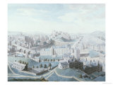 A View of the City of Edinburgh and the Surrounding Country, 1789 Giclee Print by Robert Barker