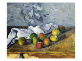Apples and a Napkin Prints by Paul Cézanne