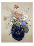 A Vase of Blue Flowers, circa 1905-08 Giclee Print by Odilon Redon