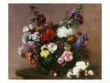 A Bouquet of Mixed Flowers, 1881 Giclee Print by Henri Fantin-Latour