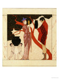 The Red Tree Premium Giclee Print by Georges Barbier