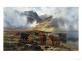 By Loch Treachlan, Glencoe, Morning Mists, 1907 Premium Giclee Print by Louis Bosworth Hurt
