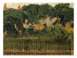 The Park Railings, Mornington Crescent Giclee Print by Spencer Frederick Gore