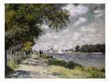 Seinen ved Argenteuil, 1875 Giclée-tryk af Claude Monet