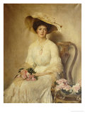 Portrait of a Lady, Seated on a Chair, Three-Quarter Length Giclee Print by John Henry Frederick Bacon