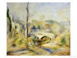 Landscape with Bridge Prints by Pierre-Auguste Renoir