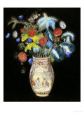 Large Bouquet on a Black Background, circa 1910 Prints by Odilon Redon