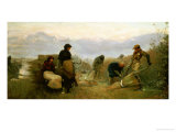Sedge Cutting in Wecken Fen, Cambridgeshire-Early Morning, 1878 Giclee Print by Robert Walker Macbeth