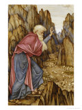 The Vision of Ezekiel: the Valley of Dry Bones Poster by John Roddam Spencer Stanhope