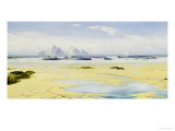 When the Tide is Out, Pimn Bay, Cornwall Giclee Print by David James