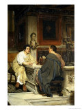 The Discourse, a Chat Prints by Sir Lawrence Alma-Tadema