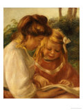 The Alphabet, Jean and Gabrielle Poster by Pierre-Auguste Renoir