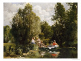The Pond at Fees Poster by Pierre-Auguste Renoir