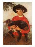 The Goatherd, 1920 Poster by Eugenio Hermosa Martinez