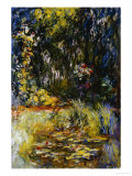 Corner of a Pond with Waterlilies, 1918 Prints by Claude Monet
