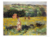 Limetz Meadow, 1887 Giclee Print by Claude Monet