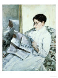 "Reading ""Le Figaro"" Prints by Mary Cassatt"