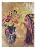 Profile of a Woman Giclee Print by Odilon Redon