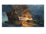 The Loss of the Ajax off Cape Janissary Giclee Print by Konstantinos Bolanachi