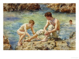 The Bathers Premium Giclee Print by Henry Scott Tuke