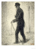 Walking, circa 1882 Giclee Print by Georges Seurat