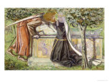 Arthur's Tomb: Sir Launcelot Parting from Guenevere, 1854 Poster by Dante Gabriel Rossetti