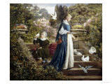 Feeding the Doves Giclee Print by F. Sydney Muschamp