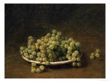 White Grapes on a Plate Poster by Henri Fantin-Latour