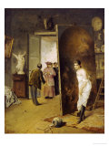 The Studio Visit, Dated 1902 Giclee Print by Antonio Herrera Toro
