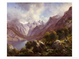 An Alpine Lake, 1867 Giclee Print by Karl Millner