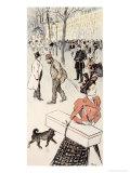 A Street Scene Giclee Print by Théophile Alexandre Steinlen