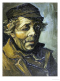 A Peasants Head (A Study for the Potato Eaters), c.1885 Giclée-tryk af Vincent van Gogh