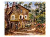 Collette's House at Cagne, 1912 Prints by Pierre-Auguste Renoir