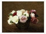 Roses Reproduction procédé giclée par Henri Fantin-Latour