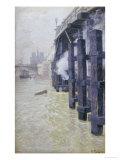 La Seine En Decembre, circa 1892 Posters by Fritz Thaulow