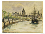 London, St.Paul's Cathedral, 1890 Reproduction giclée Premium par Camille Pissarro