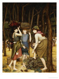 Pine Woods at Viareggio Giclee Print by John Roddam Spencer Stanhope